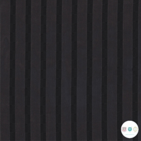 Black Satin Stripe Chiffon - Polyester - 150cm - Dress Fabric - Dressmaking