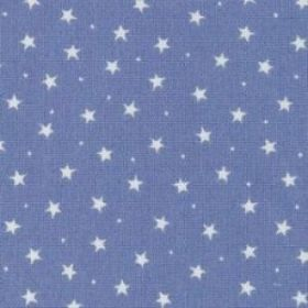 Tiny Stars on Blue Print Material - Cotton Poplin Fabric by Rose and Hubble