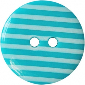 Pale Blue & White Stripe Button