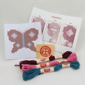 Mini Butterfly Cross Stitch Kit