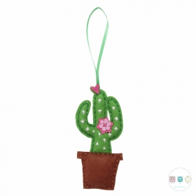 Make Your Own Felt Cactus - Cacti Felt Decoration - Beginners Festive Crafty Childrens Kit - by Trimits