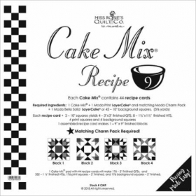 Cake Mix Recipe #9 by Miss Rosie's Quilt Co. for Moda - #CM9 - 44 Pattern Cards - Patchwork & Quilting