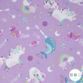 Out Of This World - Lilac Purple Orchestra Glow In The Dark - by Andrea Turk for Camelot Fabrics - Patchwork & Quilting