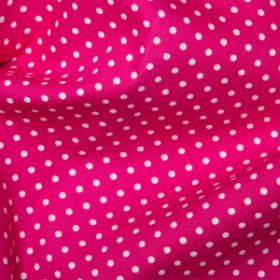 Cerise Pink Polka Dots - Spots Material - Cotton Poplin Fabric by Rose and Hubble