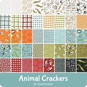 Quilting Fabric Charm Pack - Animal Crackers by Sweetwater for Moda Fabrics