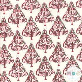 Hearthside Holiday - Holiday Words - Christmas  Tree - Text - Script - by Deb Strain for Moda Fabrics - Patchwork & Quilting