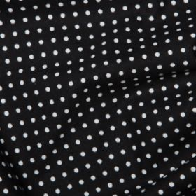 Black Polka Dots - Spots Material - Cotton Poplin Fabric by Rose and Hubble