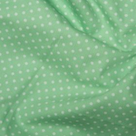 Pistachio Green Polka Dots - Spots Material - Cotton Poplin Fabric by Rose and Hubble