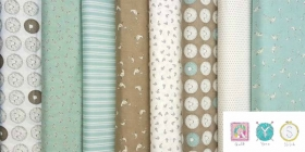 Spots on Green - Darling Little Dickens Fabric Collection by Lydia Nelson for Moda