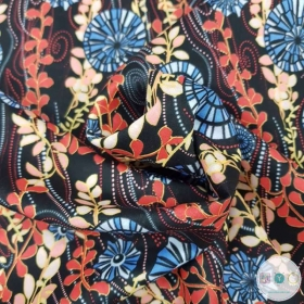 Art Deco Floral Lawn - by Fabric Freedom - Dressmaking Textiles
