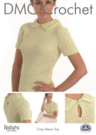 DMC 15271L/2 Crochet Crop Sleeve Top - Ladies - 4-ply - Crochet Pattern