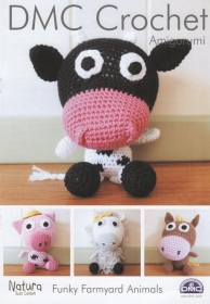 DMC 15215L/2 - Amigurumi Funky Farmyard Animals - Toy - Natura Cotton - Crochet Patterns