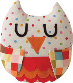 Dotty Owl Sewing Kit - Childrens Beginners Kit - by Pippablue - Gift
