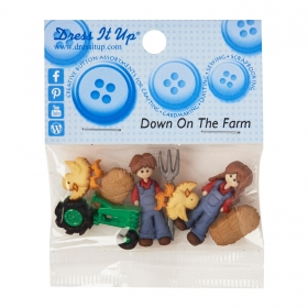 Dress It Up - Down On The Farm Buttons