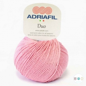 Adriafil Duo Comfort DK Yarn - 50g Balls - Old Rose Pink - Col 90 - Knitting Wool