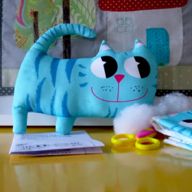 Easy Sew Kit - Cheshire Cat - Beginners Sewing Project - by Pippablue - Childrens Kit