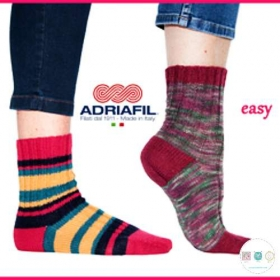 Easy Sock Pattern - Knitting Pattern by Adriafil - Uses Adriafil Calzasocks
