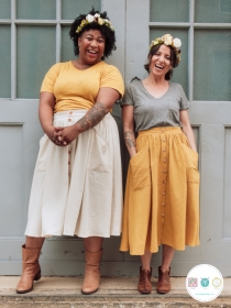 Sew Liberated - Estuary Skirt - US Sizes 0 - 30 - Beginner Friendly - Ladies Sewing Pattern