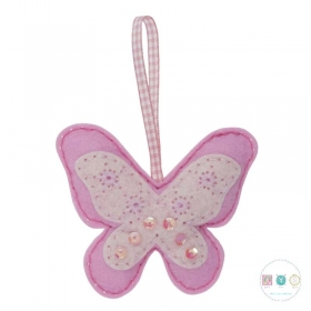 Make Your Own Felt Butterfly Ornament - Christmas Tree Decoration - Beginners Festive Crafty Childrens Kit - by Trimits