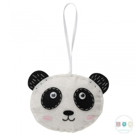 Make Your Own Felt Panda Ornament - Christmas Tree Decoration - Beginners Festive Crafty Childrens Kit - by Trimits