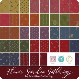 Flower Garden Gatherings - Moda Charm Pack - by Primitive Gatherings - Pre-Cuts - Patchwork & Quilting