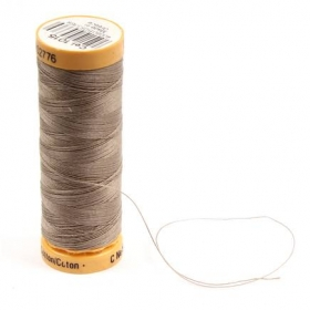 Gutermann Brown Thread G1015 - 100% Cotton - 50wt - Sewing Thread - All Purpose - Domestic