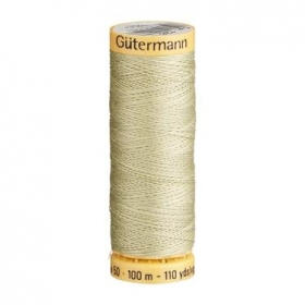 Gutermann Green Thread G126 - 100% Cotton - 50wt - Sewing Thread - All Purpose - Domestic