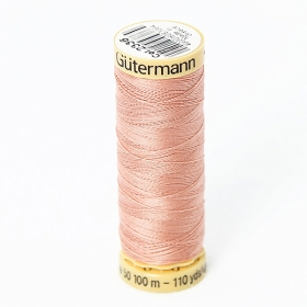 Gutermann Salmon Pink Thread G2336  - 100% Cotton - 50wt - Sewing Thread - All Purpose - Domestic