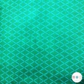 Twist & Shout - Green Zig Zag - Cotton Fabric by Rivers Bend - Patchwork & Quilting