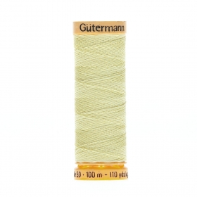 Gutermann Lemon Yellow Thread G349 - 100% Cotton - 50wt - Sewing Thread - All Purpose - Domestic