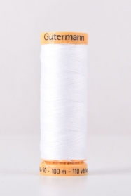 Gutermann White Thread G5709  - 100% Cotton - 50wt - Sewing Thread - All Purpose - Domestic