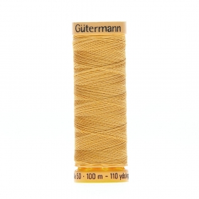 Gutermann Gold Thread G847 - 100% Cotton - 50wt - Sewing Thread - All Purpose - Domestic