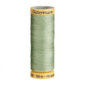 Gutermann Green Thread G8816 - 100% Cotton - 50wt - Sewing Thread - All Purpose - Domestic