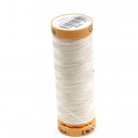 Gutermann Cream Thread G919 - 100% Cotton - 50wt - Sewing Thread - All Purpose - Domestic