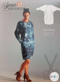 Geo Dress Sewing Pattern - Ladies Multisize Paper Pattern - by Sew Different - Dressmaking