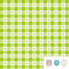 Green Check Flannel Fabric - Ric Rac Paddywack by Kim Diehl for Henry Glass Fabrics