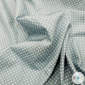 Green Polka Dots - Spots Material - Cotton Poplin Fabric by Rose and Hubble - Craft & Dressmaking