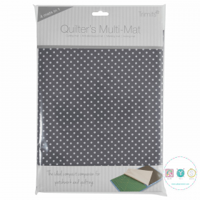 Trimits - Quilters 4 in 1 Multi Mat - Grey Dot