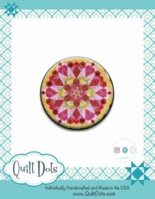 Needle Nanny - Hexagon Millifiore by Katja Marek - Zappy Dots Needle Keeper - Sewing Gift