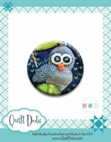 Needle Nanny - Owl by Sue Spargo - Zappy Dots Needle Keeper - Sewing Gift