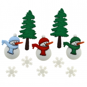 Dress It Up - Have A Cool Yule Button Pack