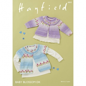 Cardigans in Hayfield Baby Blossom DK - 4843