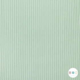 Mint Green - Heavy Rib Tube - Knitted - Collars - Cuffing - Dressmaking Fabric