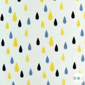 Polyurethane - Water Resistant Raincoat Fabric -  Raindrops Transparent - Vinyl - Dressmaking Fabric