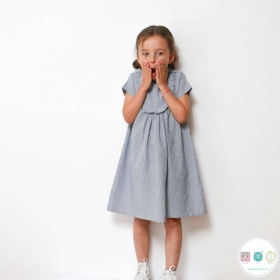Ida Dress Blouse and T-Shirt Sewing Pattern - by Ikatee - French Sewing Patterns for Kids - Childrens Dressmaking