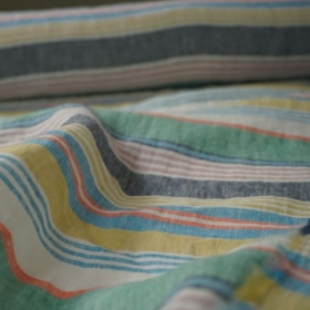 Irish Linen Fabric from Emblem Weavers - Whiddy Stripes