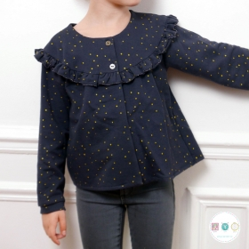 Irma Girls Cardigan or Sweater by Ikatee - French Sewing Patterns for Kids - Childrens Dressmaking