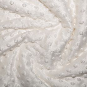 Cuddle Soft Minky Style Dimple Fleece Fabric - Ivory Cream - Super Soft and Cuddly