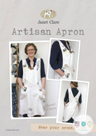 Janet Clare - Artisan Apron - Adult Sizes - Sewing Pattern