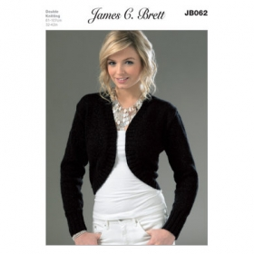 JC Brett Knitting Pattern - Ladies Bolero Cardigan JB062
